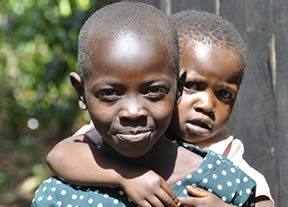 Mercy Makena and her younger brother