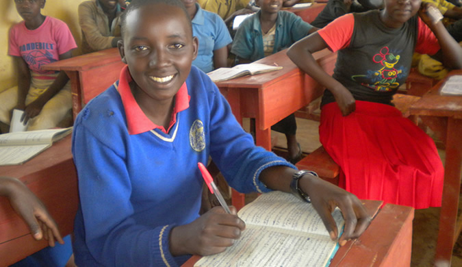 Rwandan Student in Class