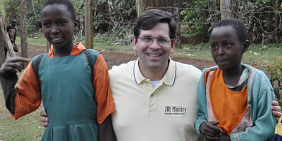 Gaston with Kids in Kenya