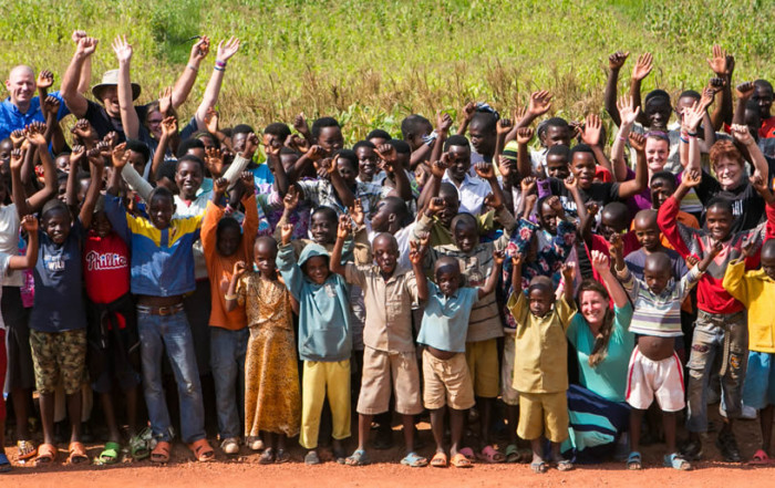Group of children in Rwanda with Hope Companions