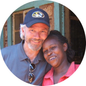 Hope Companion and Woman from Kenya hugging