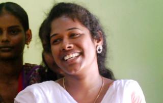 Rachel in India, Smiling