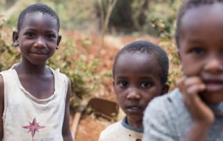 kids standing in kenya