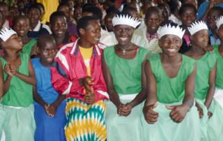 Children waiting to dance in Rwanda
