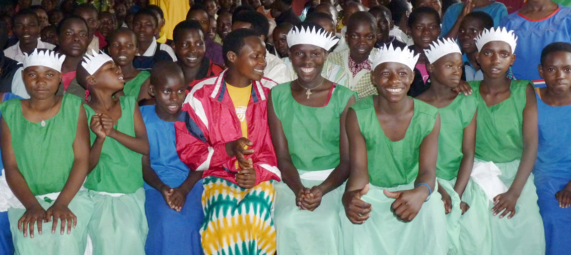Children waiting to dance in Rwanda