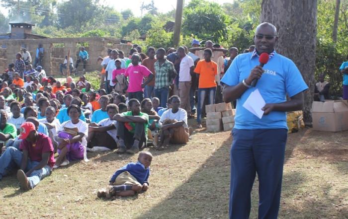 Secretary Addressing Group of ZOE Children